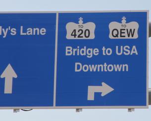 bridge sign